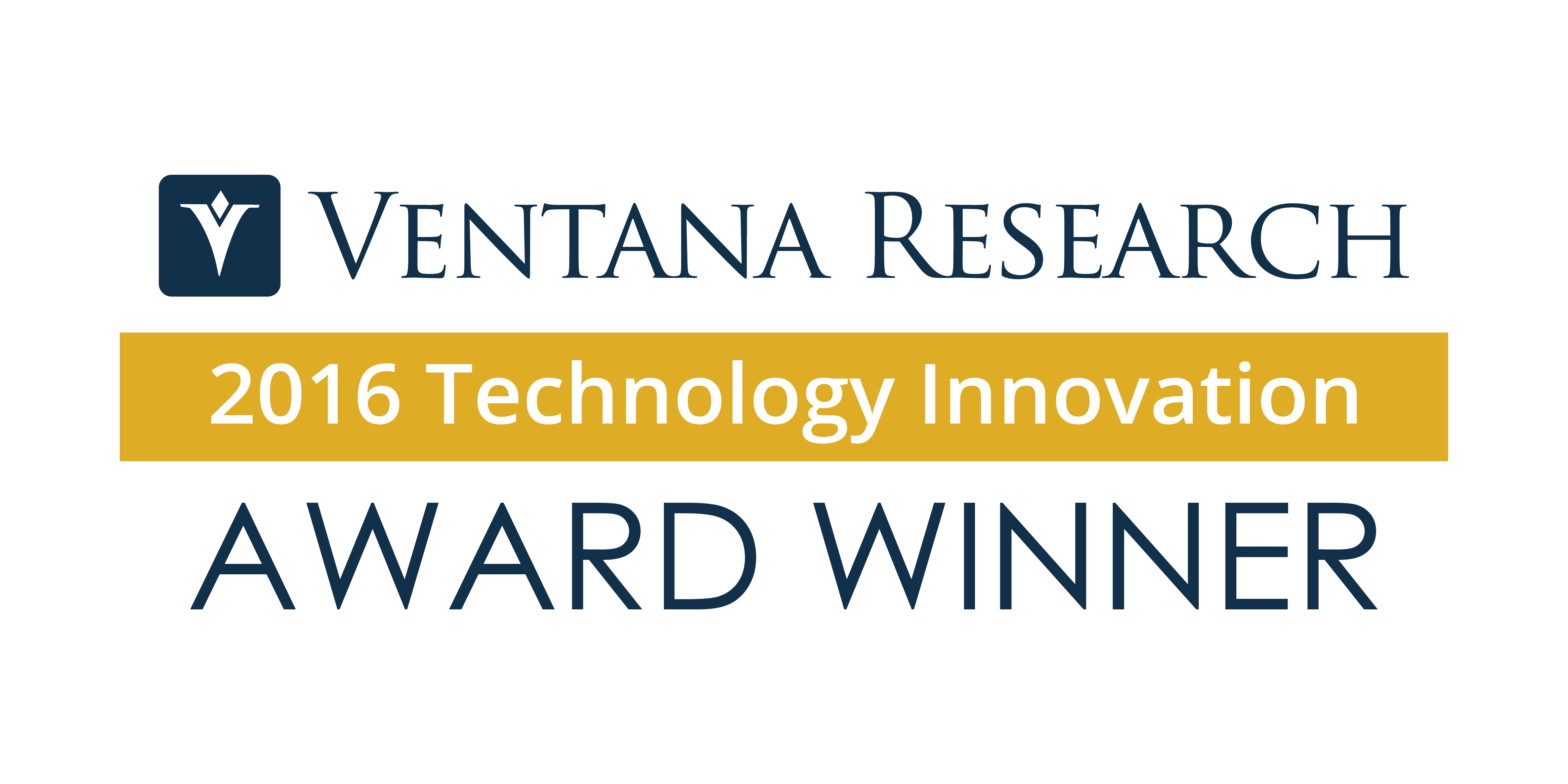 VentanaResearch TechnologyInnovationAwards Winner2016 white